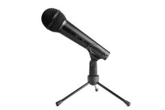 Microphone isolated on white Royalty Free Stock Photography