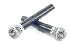 Microphone isolated. Royalty Free Stock Photo