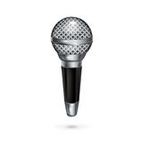 Microphone isolated on white Royalty Free Stock Photo