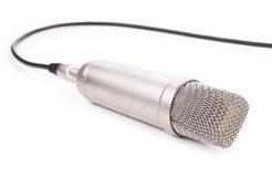 Microphone isolated on white background Stock Images