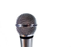 Microphone. Isolated on white background stock photography