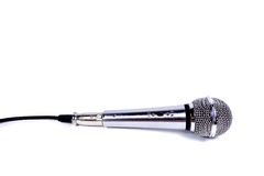 Microphone. Isolated on white background royalty free stock photography