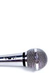 Microphone. Isolated on white background stock images