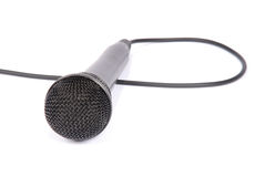 Microphone isolated on white background Royalty Free Stock Photos