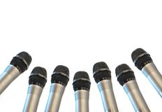 Microphone isolated on white background. stock photography