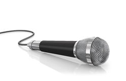Microphone isolated on the white background. Royalty Free Stock Photos