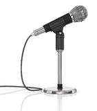 Microphone isolated on the white background. Stock Images