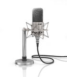 Microphone isolated on the white background. Stock Image