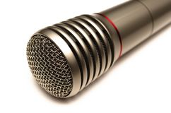 Microphone. Microphone isolated on white background. Wireless radio microphone close up stock photography