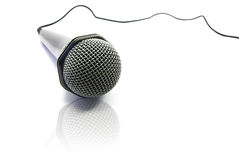 Microphone isolation Stock Image