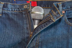 Microphone on jeans