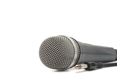 Microphone for karaoke. Isolated on a white background Royalty Free Stock Photos