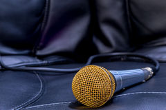 Microphone for karaoke close-up Stock Photo
