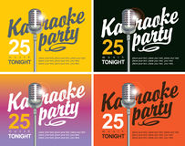 Microphone for karaoke parties Royalty Free Stock Photo