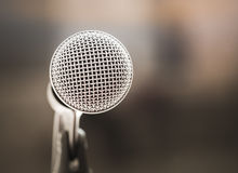 Microphone in karaoke room or conference room Stock Photography
