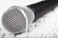 Microphone and keyboard Royalty Free Stock Photo