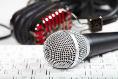 Microphone and keyboard Stock Photos