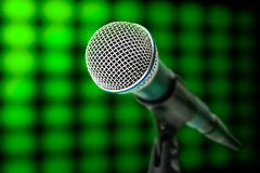Microphone on light Stock Images