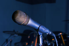 Microphone on live Stock Photo