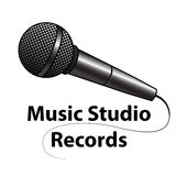 Microphone Logo. Logo for the musical studio with the microphone symbol Stock Photos