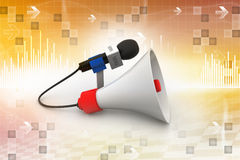 Microphone with loudspeaker Royalty Free Stock Photos