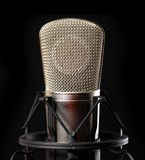Microphone macro Royalty Free Stock Image