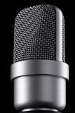 Microphone macro Royalty Free Stock Photo