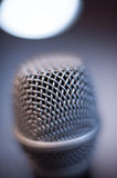 Microphone macro close up detail blue atmosphere Stock Images