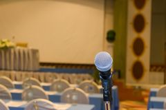 Microphone of meeting room a conference hall