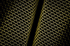 Microphone mesh Stock Image