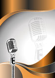 Microphone metal background Royalty Free Stock Photos