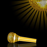 Microphone and mirror ball Stock Photography