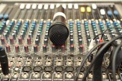 Microphone and mixer Stock Photos