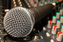 Microphone, Mixer, Cable Stock Images