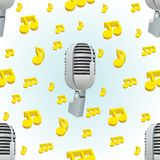 Microphone and music Royalty Free Stock Photo