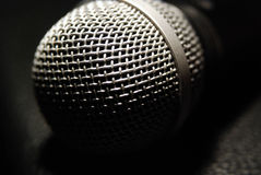 Microphone closeup Royalty Free Stock Image