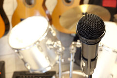Microphone and music accessories Royalty Free Stock Photos
