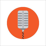 Microphone. For Music or Radio. Vector Illustration Royalty Free Stock Photos