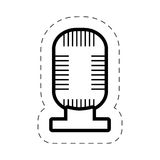 Microphone music sound cut line Royalty Free Stock Photography