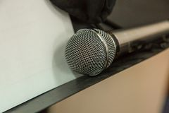 Microphone on the Music Studio. Musical Instruments and equipment stock images