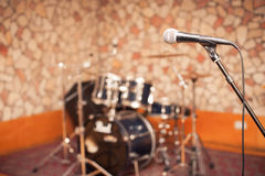 Microphone in music studio Stock Images