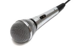 Microphone neuf et en métal Photos stock