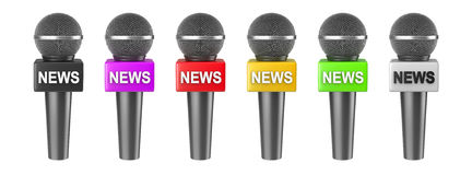 Microphone News Isolated Series Stock Images