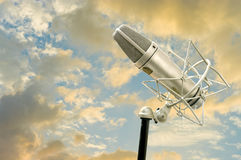 Microphone with nice sky Stock Photo