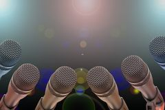 Microphone - night show Royalty Free Stock Photo