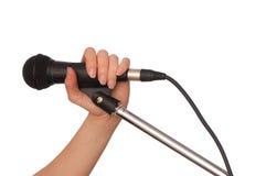 Microphone noir Image libre de droits