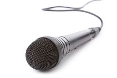 Microphone noir Photos libres de droits