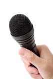 Microphone noir photographie stock