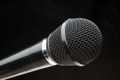 Microphone noir Images stock