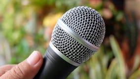 Microphone noir Photo libre de droits
